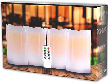 DecoKing Dripwax LED Candle Set 4x12.5cm