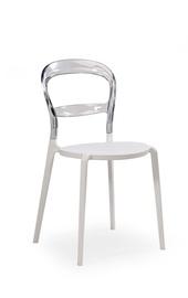 Ēdamistabas krēsls Halmar K100 White/Transparent