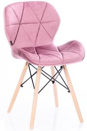 Ēdamistabas krēsls Homede Silla Velvet Mauve, 4 gab.