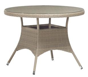 Dārza galds Home4you Larache Grey, 100 x 100 x 74 cm