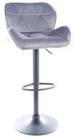 Bāra krēsls Signal Meble Modern C-122 Velvet, melna/pelēka