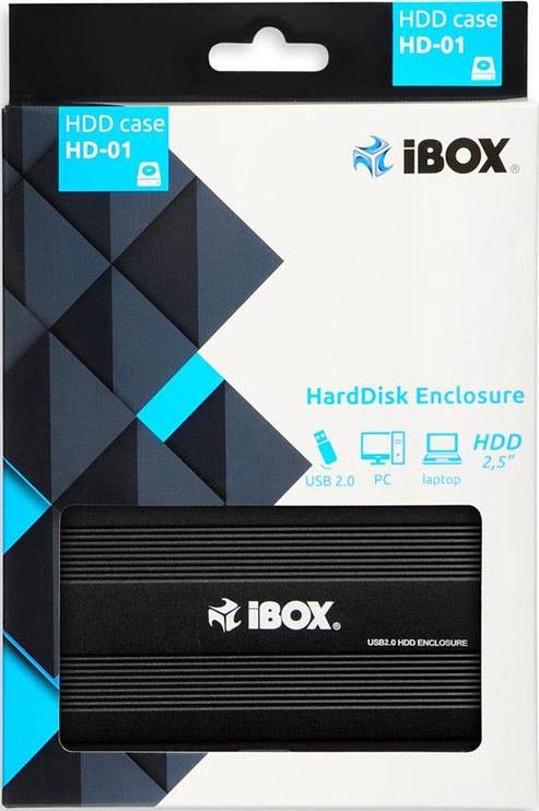 iBOX HD-01 USB 2.0 HDD Case Black
