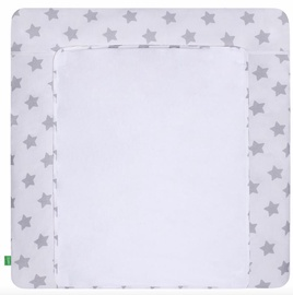 Matracis autiņu maiņai Lulando Stars On White, 75x80 cm, balta