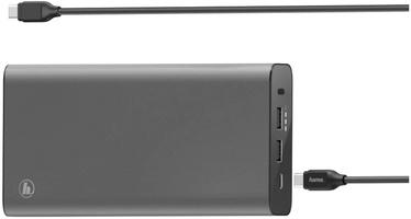 Зарядное устройство - аккумулятор Hama Universal USB-C Power Pack, 26800 мАч, серый