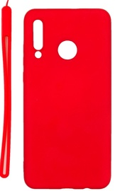 Evelatus Soft Touch Back Case With Strap For Huawei P30 Lite Red