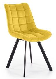 Ēdamistabas krēsls Halmar K332, melna/dzeltena
