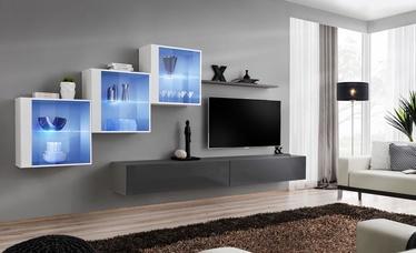 Dzīvojamās istabas mēbeļu komplekts ASM Switch XX White/Graphite