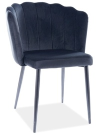 Ēdamistabas krēsls Signal Meble Modern Roksana Velvet, melna