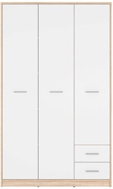 Black Red White Nepo Plus Wardrobe White/Sonoma Oak