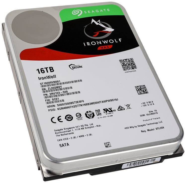 Seagate IronWolf 16TB 7200RPM 256MB SATAIII ST16000VN001