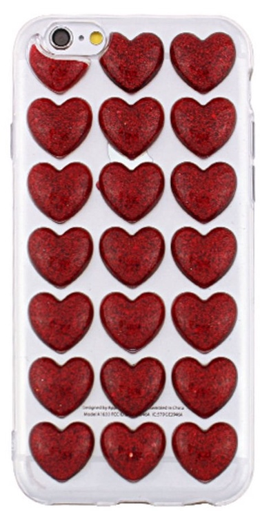 Mocco Trendy Heart Back Case For Apple iPhone 6 Plus/6s Plus Red