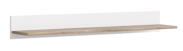 Black Red White Cannet Wall Shelf 160cm White/Oak