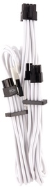 Corsair Premium Individually Sleeved PCIe Cables with Dual Connector Type 4 (Gen 4) White