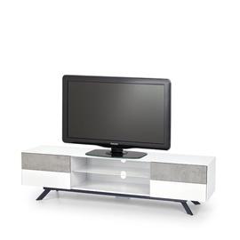 ТВ стол Halmar Stonno RTV-1, белый/серый, 1800x420x470 мм
