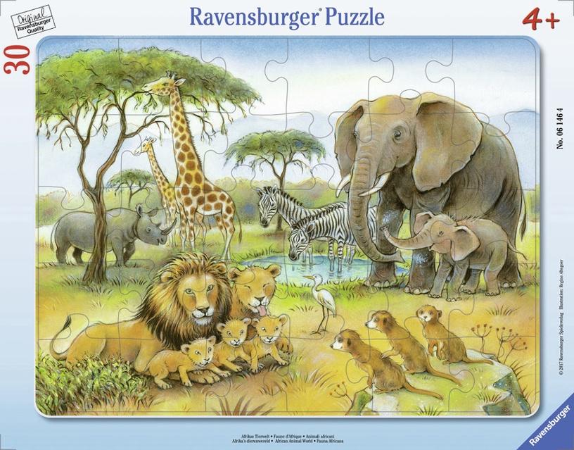 Пазл Ravensburger Frame African Animal World 061464, 30 шт.