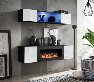Dzīvojamās istabas mēbeļu komplekts ASM Fly N3 White/Black