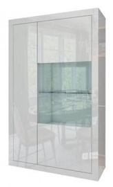 Шкаф-витрина Tuckano Sparkle, белый, 98x41x160 см
