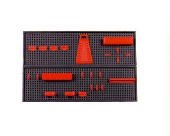 PIEDERUMU STENDS 800X250X80 mm 26 DAĻAS (OKKO)
