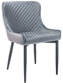 Ēdamistabas krēsls Signal Meble Colin B Velvet Grey/Black