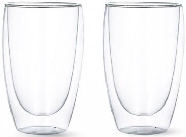 Набор двустенных стеклянных чашек (2 шт.) 450 мл.