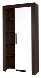 Jurek Meble Cezar Reg 4 Wardrobe Dark Brown/White