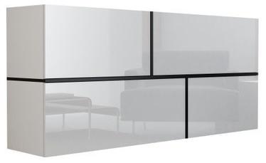 Комод Cama Meble Goya, белый/черный, 170x40x80 см