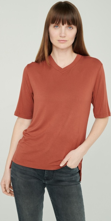 Audimas Lightweight Soft T-Shirt With Extended Back Red XS