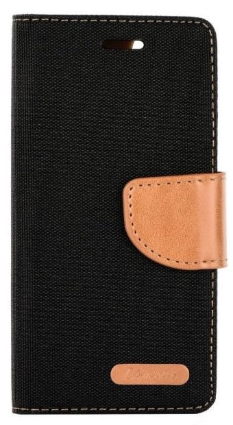 Mocco Canvas Book Case For Huawei P20 Lite Black