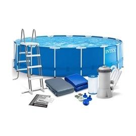 Бассейн Intex Metal Fram Pool Set 28242NP, синий, 4570x1220 мм, 16805 л