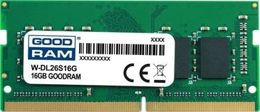 Operatīvā atmiņa (RAM) Goodram W-DL26S16G DDR4 (SO-DIMM) 16 GB CL19 2666 MHz