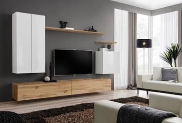 Комплект мебели для гостиной ASM Switch II, белый/дубовый