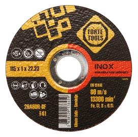 Disks nerūsējošā tērauda griešanai Forte Tools 115x1,0x22,23mm