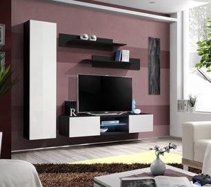 Dzīvojamās istabas mēbeļu komplekts ASM Fly R1 White/Black
