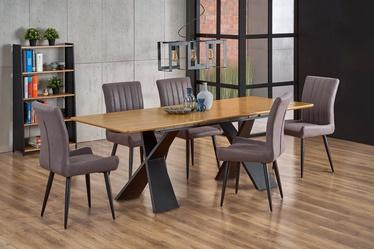 Pusdienu galds Halmar Chandler, melna/ozola, 2200x900x750mm