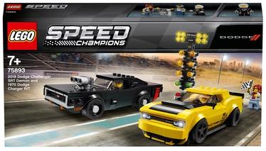 Konstruktors LEGO Speed Champions 2018 Dodge Challenger SRT Demon And 1970 Dodge Charger R/T 75893, 478 gab.