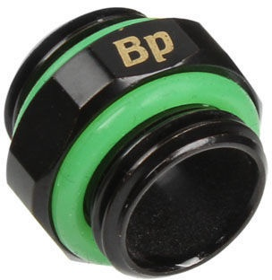 Bitspower Connection 2x G 1/4 Inch AG BP-MBDWP-DC08 hexagon Matt Black