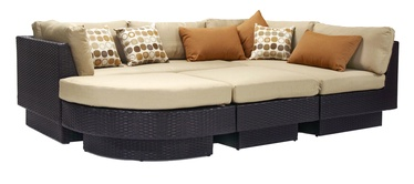 Диван Home4you Stella Set Dark Brown/Beige