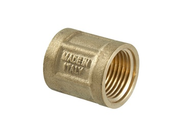 TDM Brass 600.60/220 Connector V/V 3/4""