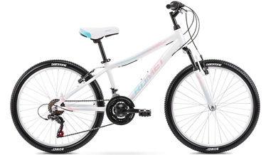 Bērnu velosipēds Romet Jolene 13'' 24'' White/Blue/Pink 21
