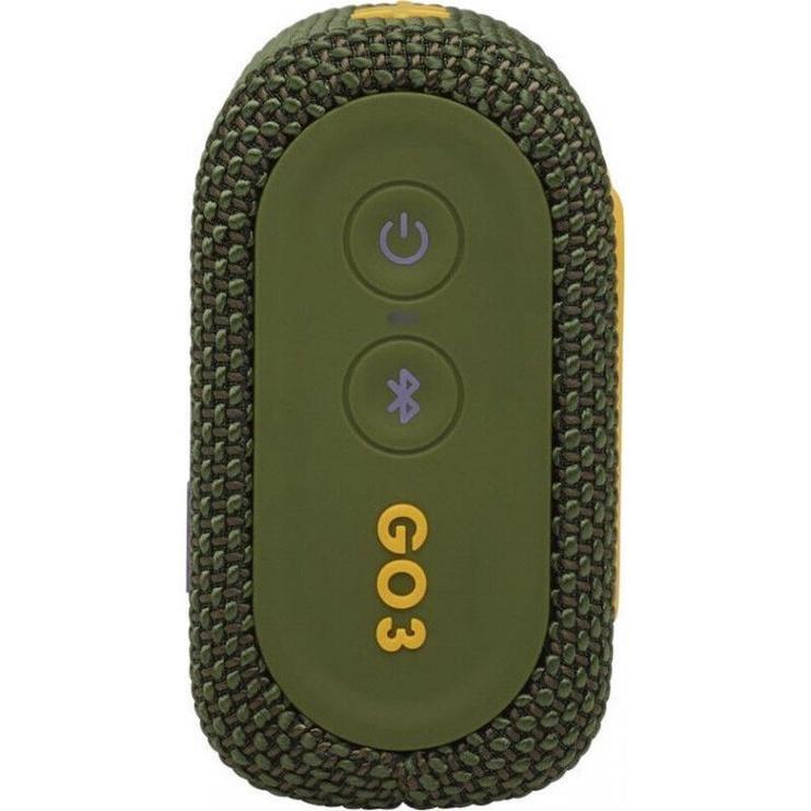 Bezvadu skaļrunis JBL GO 3, zaļa, 4 W