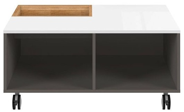 Kafijas galdiņš Black Red White Graphic Oak/White/Grey, 905x900x420 mm