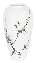 Home4you Yoko Ceramic Vase Birds H26cm White