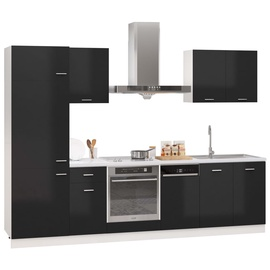 Кухонный гарнитур VLX 7 Piece Set, черный, 2.95 м