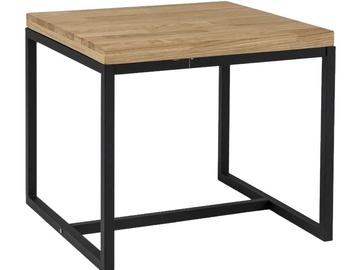 Kafijas galdiņš Signal Meble Loras C Oak/Black, 600x600x540 mm
