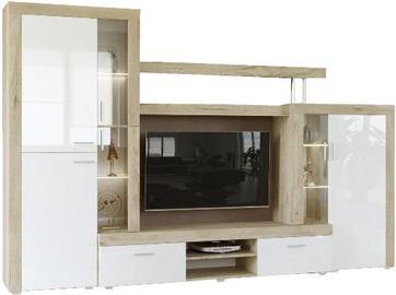 Sekcija Tuckano Warsaw Oak/White, 298x43x193 cm