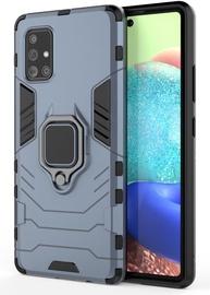 Hurtel Ring Armor Back Case For Samsung Galaxy A71 5G Blue