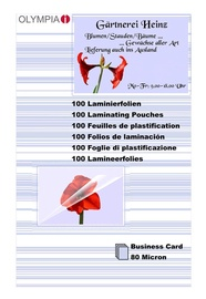 Olympia Lamination Pouches Business Cards - 80 Micron
