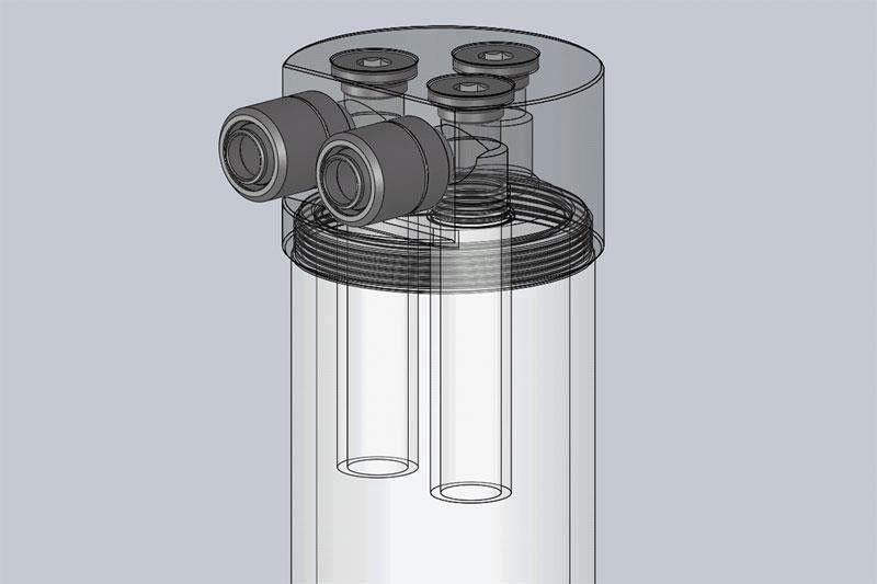 EK Water Blocks EK-RES X3 Internal Tube 12/16 40mm