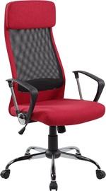 Офисный стул Home4you Darla 27796, черный/красный