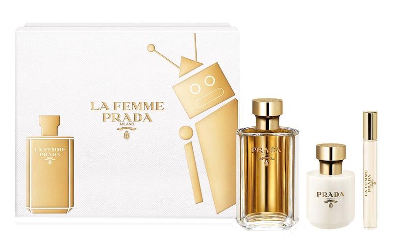 Prada La Femme De Prada 100ml EDP + Body Lotion 100ml + 10ml EDP